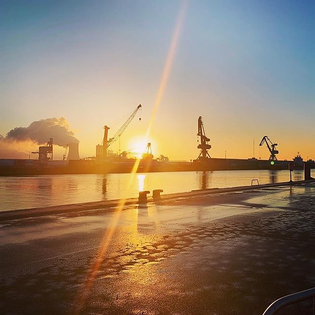 #goodmorning #rostock #rostockport #portofrostock #scandlines #copenhagen #mscopenhagen #gedser